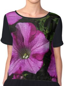Pink and white petunia flowers Leith Park Victoria 20160213 6598 Women's Chiffon Top