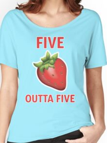 5 Strawberries Outta 5 Women's Relaxed Fit T-Shirt
