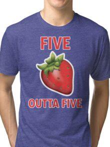 5 Strawberries Outta 5 Tri-blend T-Shirt