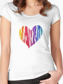 Ripped Rainbow Women's Fitted Scoop T-Shirt