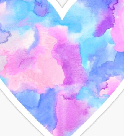 Watercolor Heart Sticker