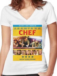 Chef (2014) Women's Fitted V-Neck T-Shirt