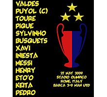 Barcelona 2009 Champions League Final Winners Photographic Print