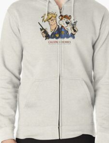 Calvin And Hobbes Private Investigation Zipped Hoodie