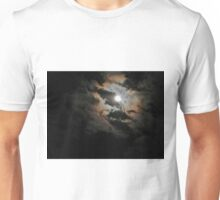 Cloudy Moonlit Night Unisex T-Shirt