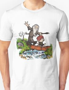 Calvin and Hobbes Lord Of The Rings Meets Unisex T-Shirt