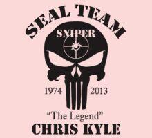 seal team sniper The Legend chris kyle Kids Tee