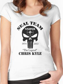 seal team sniper The Legend chris kyle Women's Fitted Scoop T-Shirt