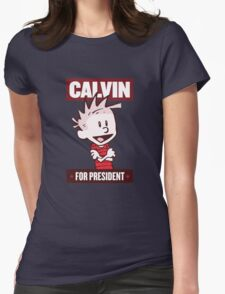 Calvin For President Womens Fitted T-Shirt