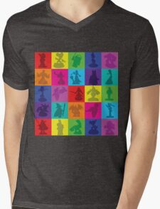 Toys For Games Color Grid Mens V-Neck T-Shirt