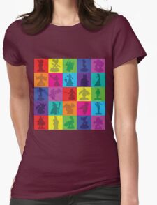 Toys For Games Color Grid Womens Fitted T-Shirt
