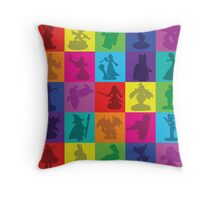 Toys For Games Color Grid Throw Pillow
