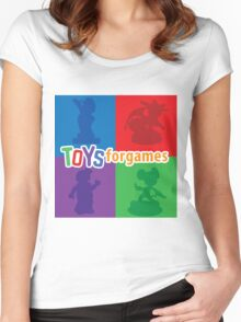 Toys For Games Logo Women's Fitted Scoop T-Shirt