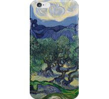 Vincent Van Gogh Post - Impressionism Oil Painting, The Olive Trees, 1889 iPhone Case/Skin
