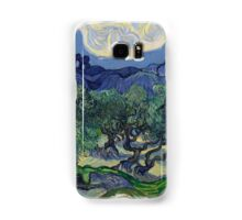 Vincent Van Gogh Post - Impressionism Oil Painting, The Olive Trees, 1889 Samsung Galaxy Case/Skin