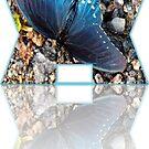 Blue butterfly design by ♥⊱ B. Randi Bailey