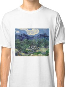 Vincent Van Gogh Post - Impressionism Oil Painting, The Olive Trees, 1889 Classic T-Shirt
