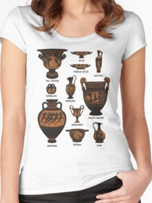 Ancient Greek Pottery Women's Fitted Scoop T-Shirt