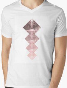 Forest Squares Mens V-Neck T-Shirt