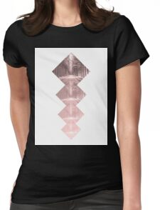 Forest Squares Womens Fitted T-Shirt