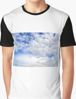 Blue sky with fluffy clouds. Graphic T-Shirt