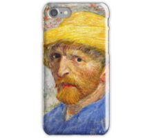 Vincent Van Gogh   Post- Impressionism  Oil Painting, Self Portrait, 1887 iPhone Case/Skin