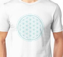 Flower of life - larimar Unisex T-Shirt