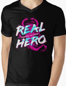 Real Hero Mens V-Neck T-Shirt