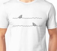 Shark fin swimming Unisex T-Shirt