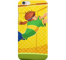 Funny cartoon goal keeping design iPhone Case/Skin