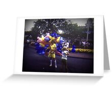 Vintage Kodachrome Slide 1970'S Girl with Balloons  Greeting Card