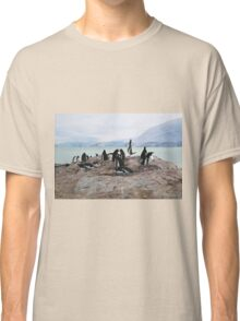 Gentoo Penguin Rookery on Trinity Island, Antarctica Classic T-Shirt