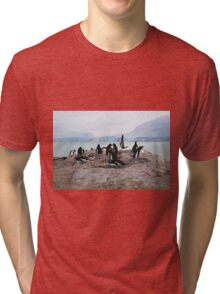 Gentoo Penguin Rookery on Trinity Island, Antarctica Tri-blend T-Shirt