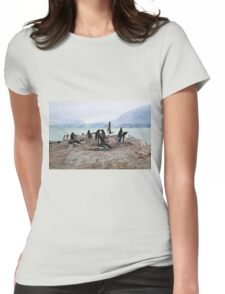 Gentoo Penguin Rookery on Trinity Island, Antarctica Womens Fitted T-Shirt