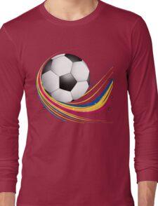 Abstract football green colorful wave Long Sleeve T-Shirt