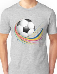 Abstract football green colorful wave Unisex T-Shirt