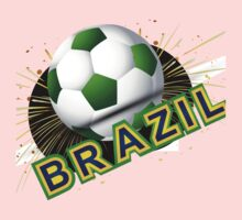 Soccer beautiful texture with brazil colors One Piece - Long Sleeve