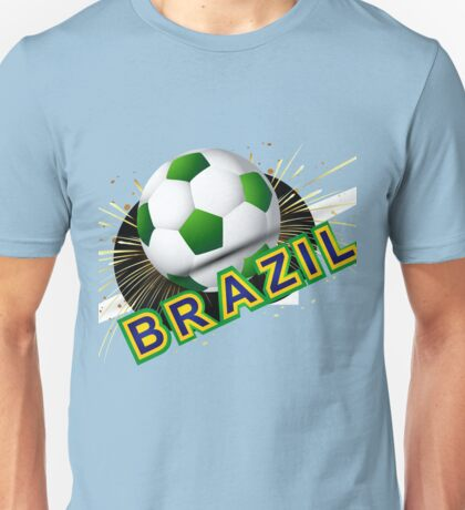 Soccer beautiful texture with brazil colors Unisex T-Shirt