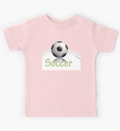 Soccer ball graphics Kids Tee