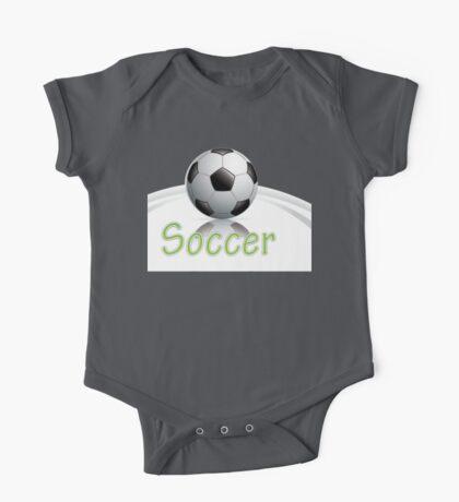 Soccer ball graphics One Piece - Short Sleeve