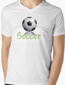 Soccer ball graphics Mens V-Neck T-Shirt