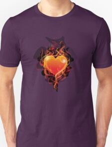Flame ignition heart Unisex T-Shirt