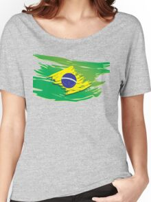 Brazil flag stylized Women's Relaxed Fit T-Shirt