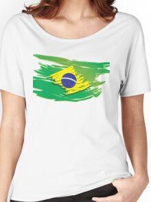 Brazil flag stylized Women's Relaxed Fit T-Shirt