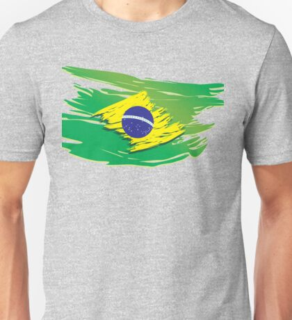 Brazil flag stylized Unisex T-Shirt