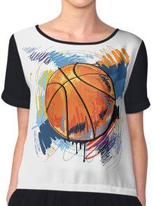 Basketball graffiti art Chiffon Top