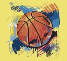 Basketball graffiti art One Piece - Short Sleeve