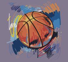 Basketball graffiti art Kids Tee