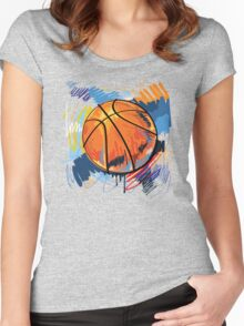 Basketball graffiti art Women's Fitted Scoop T-Shirt