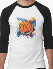 Basketball graffiti art Men's Baseball ¾ T-Shirt